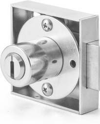 Deadbolt- and latch bolt lock, cam cylinder, Mounting - and Pressure cylinder